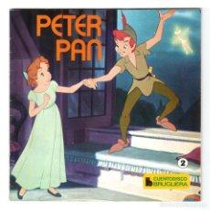 Discos de vinilo: CUENTODISCO BRUGUERA - Nº 2 - PETER PAN - WALT DISNEY - CUENTO + DISCO DE VINILO - HISPABOX - 1979. Lote 293966003