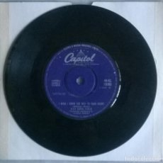Discos de vinilo: NAT KING COLE. JUST AS MUCH AS EVER/ I WISH I KNEW THE WAY TO YOUR HEART. CAPITOL, UK 1960 SINGLE. Lote 293967733