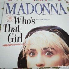 Discos de vinilo: MADONNA – WHO'S THAT GIRL.1987- SELLO: SIRE – 920 692-0. (12''). NUEVO. MINT / NEAR MINT. Lote 293968703