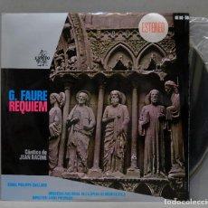 Discos de vinilo: LP. FAURE. REQUIEM. CANTICO DE RACINE. Lote 293970543