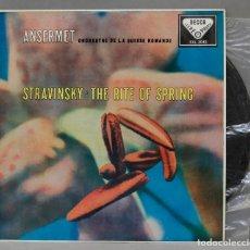 Discos de vinilo: LP. STRAVINSKY. ANSERMET. L'ORCHESTRE DE LA SUISSE ROMANDE. THE RITE OF SPRING. Lote 293970678