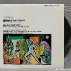 Discos de vinilo: LP. KHATCHATURIAN. KABALEVSKY. MASCARADA. LOS COMEDIANTES OP. 26. KONDRASHIN. Lote 293970783