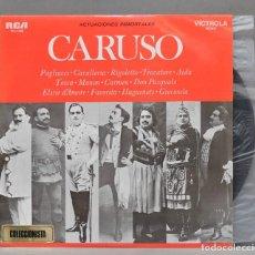Discos de vinilo: LP. CARUSO. ACTUACIONES INMORTALES. Lote 293971063