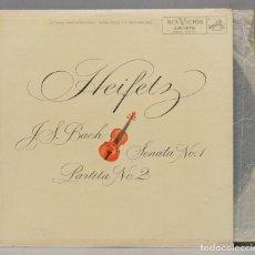 Discos de vinilo: LP. BACH. HEIFETZ. J.S. BACH SONATA NO. 1 PARTITA NO. 2. Lote 293971193