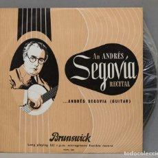 Discos de vinilo: LP. AN ANDRÉS SEGOVIA RECITAL. Lote 293971278