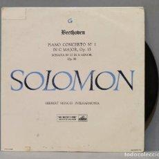 Discos de vinilo: LP. PIANO CONCERTO NO. 1 IN C MAJOR, OP. 15. SONATA NO. 27 IN E MINOR, OP. 90. BEETHOVEN. SOLOMON.. Lote 293971383