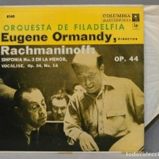 Discos de vinil: LP. THE PHILADELPHIA ORCHESTRA. EUGENE ORMANDY. RACHMANINOFF. SYMPHONY NO. 3. Lote 293971468