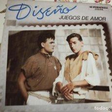 """Discos de vinilo: DISEÑO – JUEGOS DE AMOR.1984. RCA VICTOR – PC-7825 (12""""),NUEVO. MINT / NEAR MINT. Lote 293976873"""