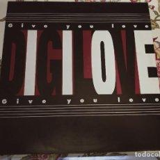 """Discos de vinilo: DIGILOVE – GIVE YOU LOVE SELLO: BLANCO Y NEGRO – MX 456. (12""""), NUEVO. MINT / VG+++. Lote 293977433"""