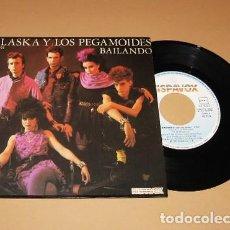 Discos de vinilo: ALASKA Y LOS PEGAMOIDES - BAILANDO - SINGLE - 1982. Lote 293978883