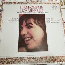 Discos de vinilo: LIZA MINNELLI – IT AMAZES ME.1965. SELLO: CAPITOL RECORDS – SM 2271, NUEVO. MINT / VG+. Lote 293978958