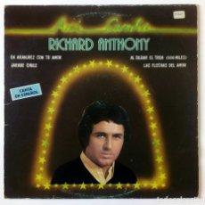 Discos de vinilo: LP RICHARD ANTHONY - ASÍ CANTA - EMI ODEON 1981 - CANTA EN ESPAÑOL. Lote 293993503