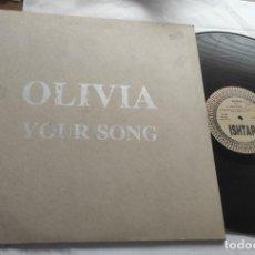 Discos de vinilo: OLIVIA – YOUR SONG-LP -ITALIA-1993-. Lote 293997303
