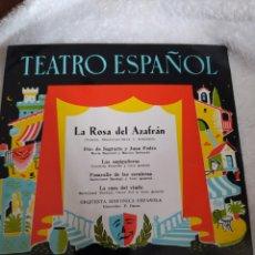 Discos de vinilo: TEATRO ESPAÑOL- LA ROSA DEL AZAFRÁN.. Lote 293998098