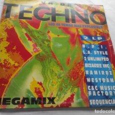 Discos de vinilo: VARIOUS – VA DE... TECHNO-2 LP-ESPAÑA-1993. Lote 293999163
