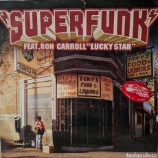 Discos de vinilo: MAXI - SUPERFUNK - LUCKY STAR - ITALIA 2000. Lote 294013388