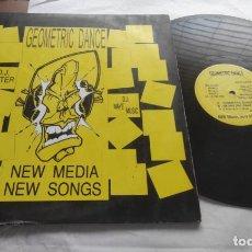 Discos de vinilo: NEW MEDIA, NEW SONGS – GEOMETRIC DANCE-MAXI-ESPAÑA-1994-. Lote 294014748
