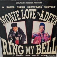 Discos de vinilo: MAXI - MONIE LOVE VS ADEVA - RING MY BELL - ESPAÑA 1991. Lote 294015808