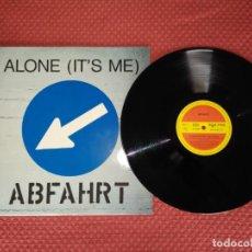 Discos de vinilo: ABFAHRT - ALONE (IT'S ME) ZYX RECORDS MADE IN GERMANY. Lote 294023543