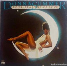 Discos de vinilo: DONNA SUMMER. FOUR SEASONS OF LOVE.LP ESPAÑA CON FUNDA INTERIOR LETRAS. Lote 294042028