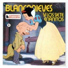 Discos de vinilo: CUENTODISCO BRUGUERA - Nº 1 - BLANCANIEVES Y LOS SIETE ENANITOS WALT DISNEY - CUENTO + DISCO VINILO. Lote 294050063