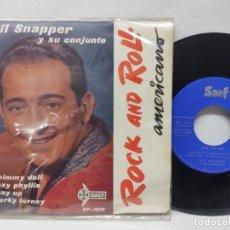 Discos de vinilo: GIL SNAPPER Y SU CONJUNTO - ROCK AND ROLL AMERICANO - SAEF 1959-SINGLES BUEN ESTADO..SP-1016. Lote 294050723