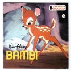 Discos de vinilo: CUENTODISCO BRUGUERA - Nº 5 - BAMBI - WALT DISNEY - CUENTO + DISCO DE VINILO - HISPABOX - 1979. Lote 294050833