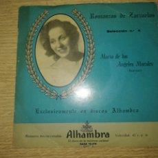 Discos de vinilo: MARIA DE LOS ANGELES MORALES ROMANZAS DE ZARZUELA. Lote 294054023