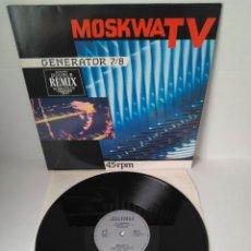 Discos de vinilo: MOSKWA TV - GENERATOR 7/8 (ENERGETIC MIX) / MAXI SINGLE IMPORT TEMAZOS. Lote 294058048