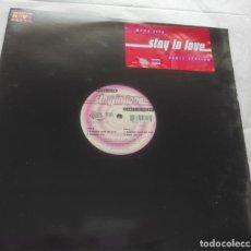 Discos de vinilo: MONA LISA – STAY IN LOVE (DANCE VERSION)-USA-1998-. Lote 294060453