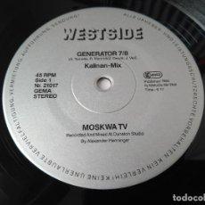 Discos de vinilo: MOSKWA TV - GENERATOR 7/8 (KALINAN-MIX) / MAXI SINGLE IMPORT TEMAZOS. Lote 294060623