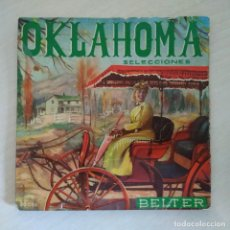 Discos de vinilo: OKLAHOMA SELECCIONES DE LA B.S.O. RARO EP BELTER DE 1958 COROS Y ORQUESTA ENOCH LIGHT. Lote 294061253