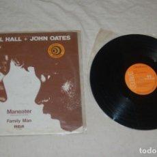 Discos de vinilo: DARYL HALL & JOHN OATES - MANEATER. Lote 294065468