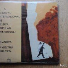 Discos de vinilo: 4º I 5º FESTIVAL MUSICA POPULAR I TRADICIONAL VILANOVA I LA GELTRU. AUDIOVISUALS 1986. LP COM NOU. Lote 294065923