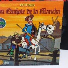 Discos de vinilo: DON QUIJOTE DE LA MANCHA SERIE DE DIBUJOS MUY BUEN ESTADO CON EL POSTER. Lote 294081238