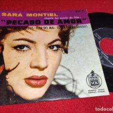 Discos de vinilo: SARA MONTIEL PECADO DE AMOR BSO.PICHI/S.M.EL SCHOTIS/FLOR DEL MAL +1 EP HISPAVOX FRANCIA FRANCE. Lote 294081938