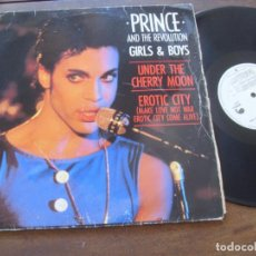 Discos de vinilo: PRINCE AND THE REVOLUTION MAXI SINGLE. GIRLS AND BOYS. &. MADE IN SPAIN. 1986. Lote 294089598