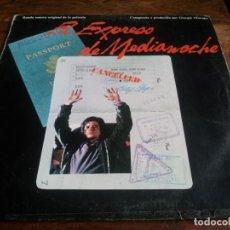 Discos de vinilo: VARIOS - B.S.O EL EXPRESO DE MEDIANOCHE - LP ORIGINAL CBS ESPAÑA 1984 - EN BUEN ESTADO. Lote 294094098