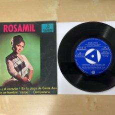 Discos de vinilo: ROSAMIL - DE PROPINA EL CORAZÓN +3 (EP) - PROMO SINGLE 1967 - SPAIN. Lote 294096983
