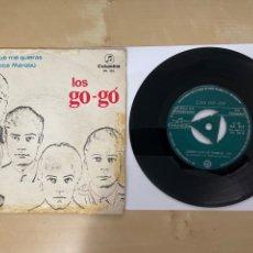 """Discos de vinilo: LOS GO-GO - QUIERO QUE ME QUIERAS / EH TU LOCA MARABU - SINGLE 7"""" SPAIN 1966 PROMO. Lote 294099673"""