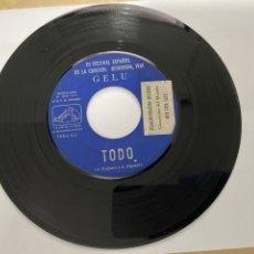 Discos de vinilo: GELU III FESTIVAL ESPAÑOL DE CANCIÓN BENIDORM - SOLISTA MUJER - EL AMOR ES UN FESTIVAL / TODO 1961. Lote 294100223