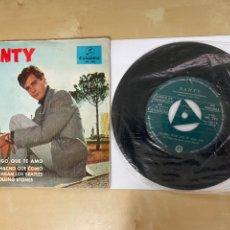 Discos de vinilo: SANTY - CUANDO DIGO QUE TE AMO / ERA UN MUCHACHO QUE COMO ME GUSTABAN BEATLES ROLLING STONES PROMO. Lote 294105128