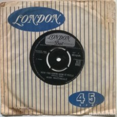 Discos de vinilo: WINK MARTINDALE. DECK OF CARDS/ NOW YOU KNOW HOW IT FEELS. LONDON, UK 1959 SINGLE. Lote 294107658