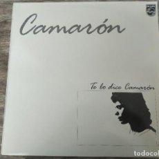 Discos de vinilo: CAMARÓN DE LA ISLA - TE LO DICE CAMARÓN ********* RARO LP 1986 BUEN ESTADO!. Lote 294107798