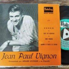 Discos de vinilo: JEAN PAUL VIGNON - TOUT ES NOVEAU + 3 **** RARO EP ESPAÑOL 1961 BUEN ESTADO. Lote 294108728