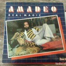 Discos de vinilo: AMADEO - REAL MAGIC **** RARO LP ESPAÑOL 1979 GRAN ESTADO. Lote 294112138