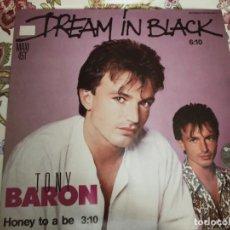 """Discos de vinilo: TONY BARON – DREAM IN BLACK.1985. SELLO: CARRERE – 883 603-1. (12""""),NUEVO. MINT / NEAR MINT. Lote 294112853"""