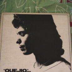 Discos de vinilo: CAMARÓN DE LA ISLA. QUEJIO. ESTUCHE DE 3 LPS. Lote 294115358