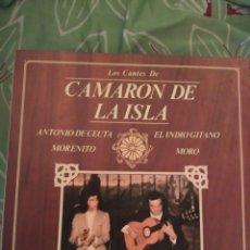 Discos de vinilo: CAMARÓN DE LA ISLA, EL INDIO GITANO Y TRES MÁS. LP. Lote 294115438