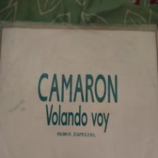 Discos de vinilo: CAMARÓN DE LA ISLA. VOLANDO VOY. REMIX MAXISINGLE.. Lote 294115483